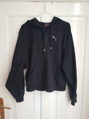 PUMA Kapuzenpulli schwarz Gr. M | Kapuzenpullover, Hoody, Sweatshirt, Sweatjacke | oversized, locker, lässig, sportlich