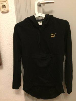 Puma Jersey con capucha negro-color oro