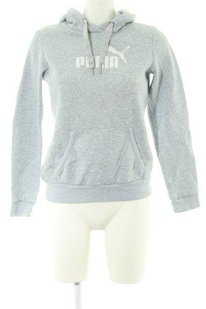 Puma Maglione con cappuccio grigio chiaro puntinato stile casual