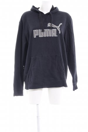 Puma Hooded Sweater dark blue-grey abstract print casual look