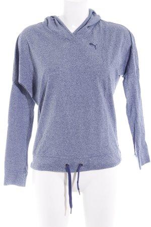 Puma Kapuzenpullover graublau meliert sportlicher Stil