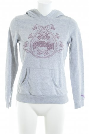 Puma Hooded Sweater light grey themed print casual look