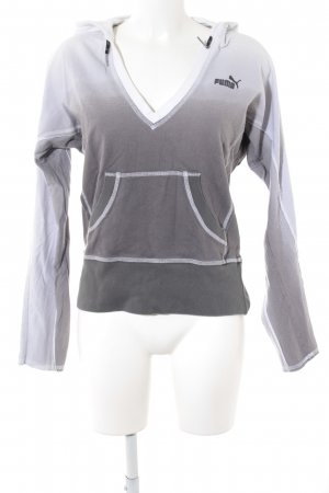 Puma Jersey con capucha blanco-gris degradado de color look casual