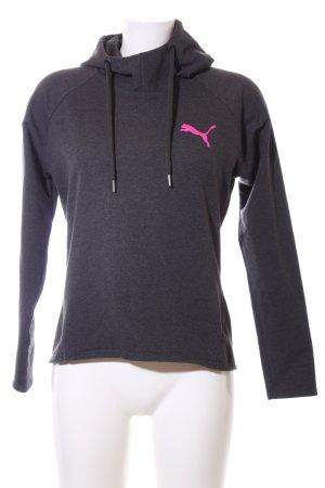 Puma Kapuzensweatshirt schwarz meliert Casual-Look