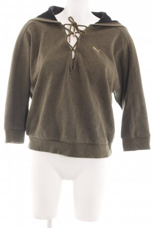 Puma Hooded Sweatshirt bronze-colored flecked casual look