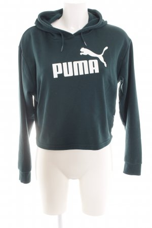 Puma Hooded Sweatshirt green themed print casual look