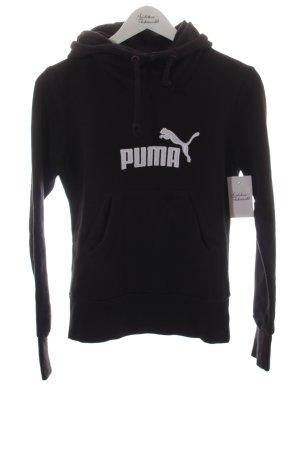 Puma Kapuzensweatshirt schwarz-weiß sportlicher Stil
