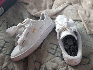 Puma Lack Schuhe weiß