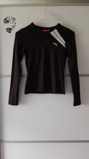 Puma Langarm T-Shirt Oberteil Schwarz Gr. 34