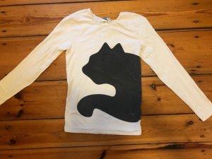 Puma: Langarmshirt, Longsleeve, Gr. M/ 36/ 38, weiß/ schwarz