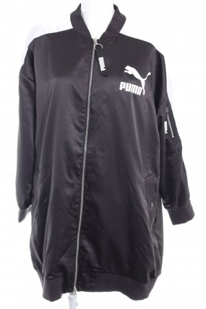 Puma Long Jacket black-white printed lettering athletic style