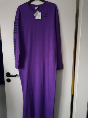 Puma langes Kleid purple Gr.40 loose fit