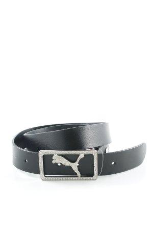 Puma Cintura di pelle nero con glitter