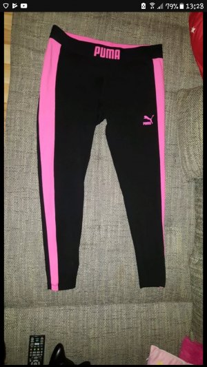 Puma Leggings black-neon pink