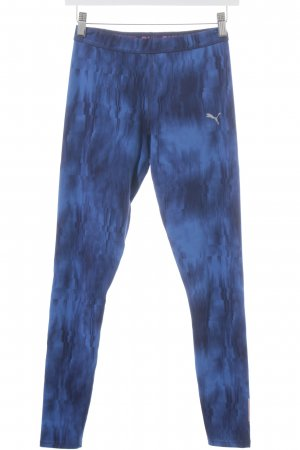 Puma Leggings blau-neonblau abstraktes Muster sportlicher Stil