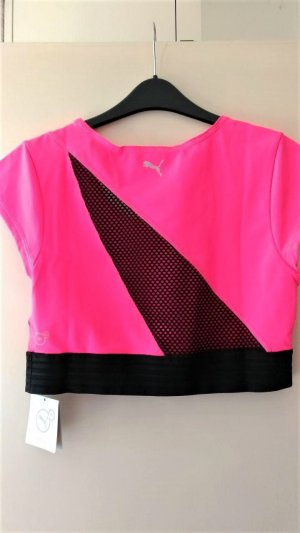 Puma Sporttop roze-zwart Nylon