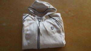 Puma Nicki-Jacke in Größe 44 Farbe Weiß/Marine mit kleinem Fleck