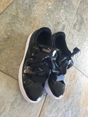 Puma Plateau schwarz weiß Lack Sneaker 38