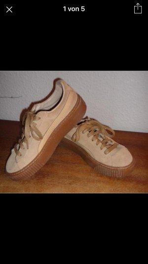 Puma Platform Core Plateau beige Leder Suede 37 Sneaker Turnschuhe Schuhe