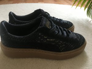 Puma Sneakers black-gold-colored suede