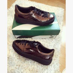 Puma Sneakers met veters donkerbruin-zwart