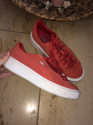 Puma Platform Suede Barbados Cherry red