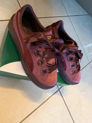 Puma Lace-Up Sneaker bordeaux-purple