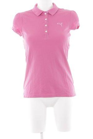 Puma Polo-Shirt magenta sportlicher Stil