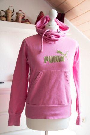 PUMA Pullover Hoodie Damen Größe S 36 rosa pink Pulli Oberteil Sport Kapuze lang