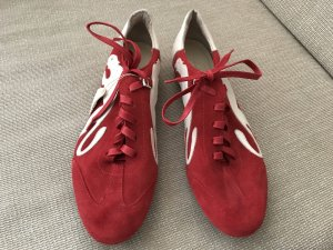 Puma Lace-Up Sneaker brick red-white leather