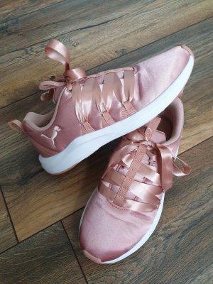 Puma Satin Sneaker rosa Schleife