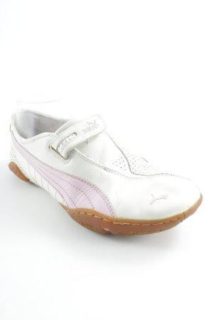 Puma Schlüpfschuhe weiß-rosa schlichter Stil