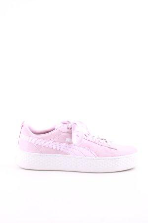 Puma Schnürschuhe pink Casual-Look