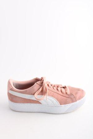 Puma Schnürsneaker weiß-pink Casual-Look