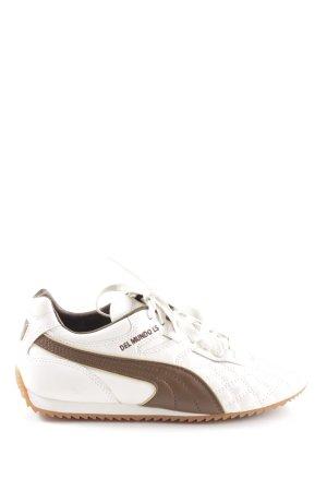 Puma Schnürsneaker weiß-bronzefarben sportlicher Stil