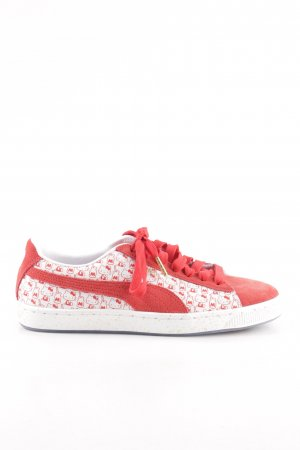 Puma Schnürsneaker rot-weiß abstraktes Muster Casual-Look