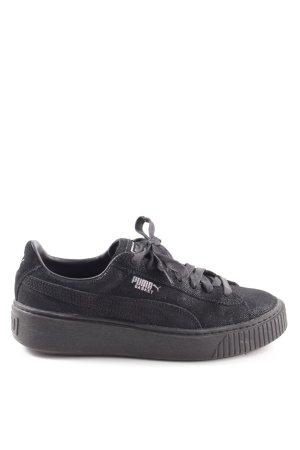 """Puma Lace-Up Sneaker """"Basket Platform"""" black"""