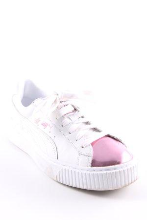 """Puma Sneakers met veters """" Basket Platform Metallic """""""