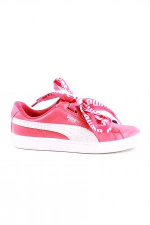 Puma Schnürsneaker pink-weiß Motivdruck Casual-Look