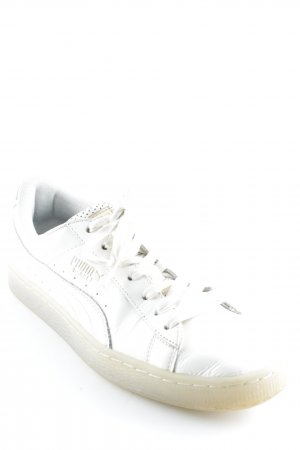 Puma Lace-Up Sneaker cream-sand brown wet-look