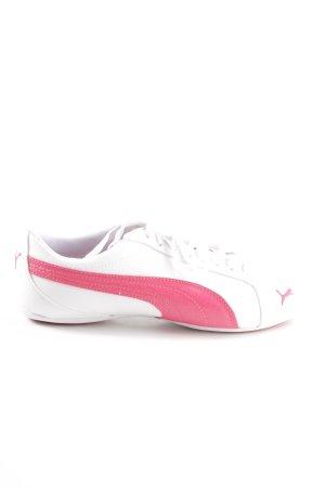 Puma Sneakers met veters wit-roze atletische stijl