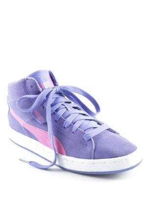 Puma Sneakers met veters lila-roze skater stijl