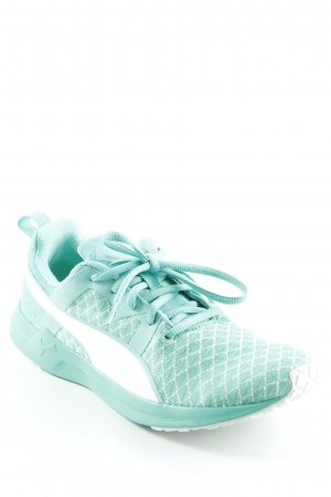 Puma Schnürsneaker mint Karomuster Casual-Look