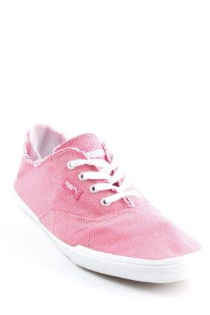Puma Schnürsneaker pink-weiß Street-Fashion-Look