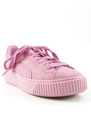 Puma Schnürsneaker rosa sportlicher Stil