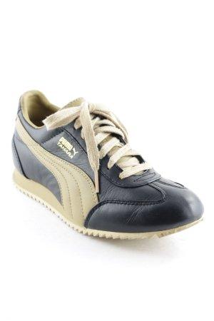 Puma Schnürsneaker schwarz-beige sportlicher Stil