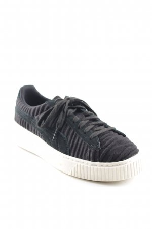 Puma Sneakers met veters zwart casual uitstraling