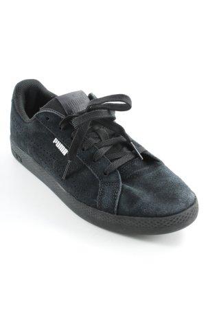 Puma Schnürsneaker schwarz-dunkelblau sportlicher Stil