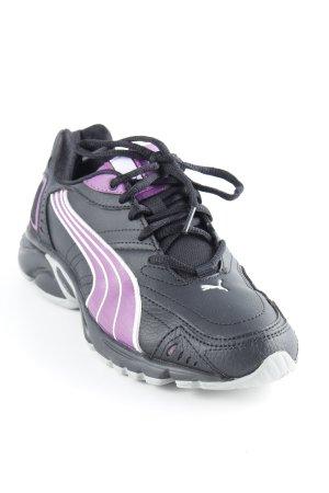 Puma Schnürsneaker schwarz-lila sportlicher Stil