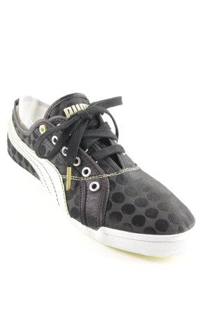 Puma Sneakers met veters zwart-limoen geel gestippeld patroon atletische stijl
